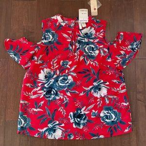 Japna Red Floral Top